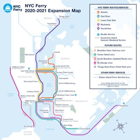 City Announces Expansion of NYC Ferry Routes, Including